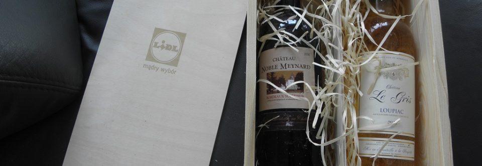 Skrzynka podarunkowa z winem od LIDLA